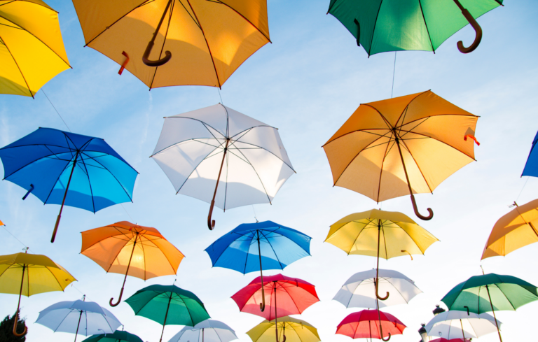 picture showing best life insurance for kids as umbrellas in lifefor