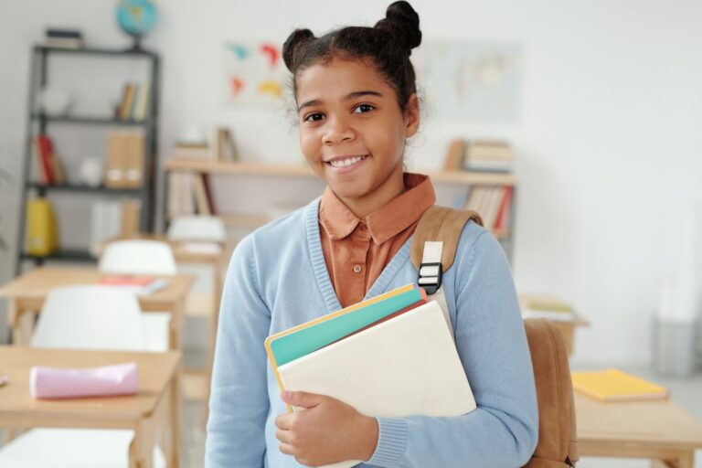 image of girl attending school with 529 for private school